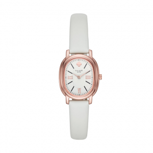 Pink and White Rose Gold Dây Da KSW1433