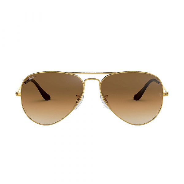 Aviator Gold Brown Gradient RB3025 001/51 55-14