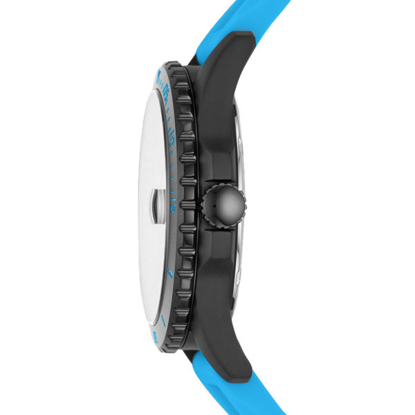DONG-HO-NAM-FOSSIL-Sport-Black-Blue-Neon-Silicone-FS5682-2