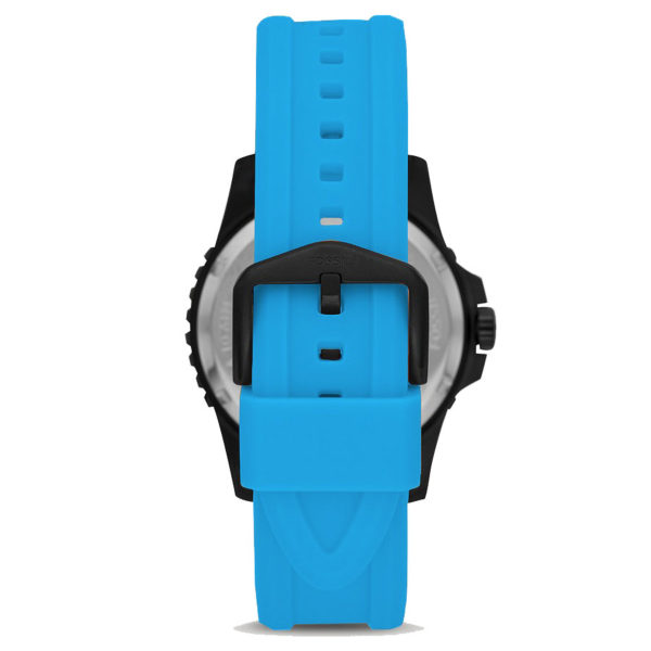 DONG-HO-NAM-FOSSIL-Sport-Black-Blue-Neon-Silicone-FS5682-3